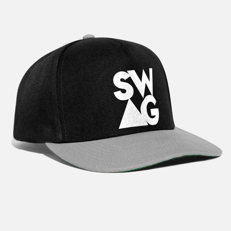 97d65f61fa8f5 Swag Gorras y gorros - Swag - Gorra snapback negro gris