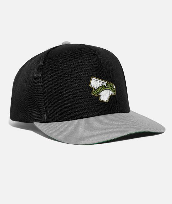 Office Caps & Hats - Home office work underpants - Snapback Cap black/grey