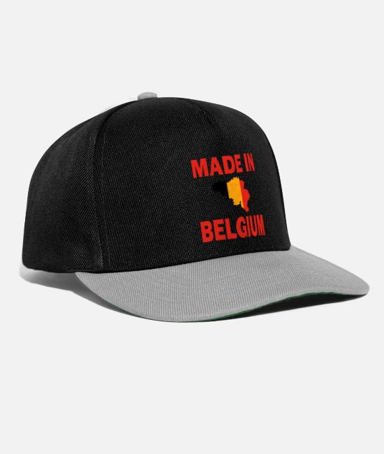Proud Caps & Hats - Made in Belgium Brussel birthplace gift home - Snapback Cap black/grey