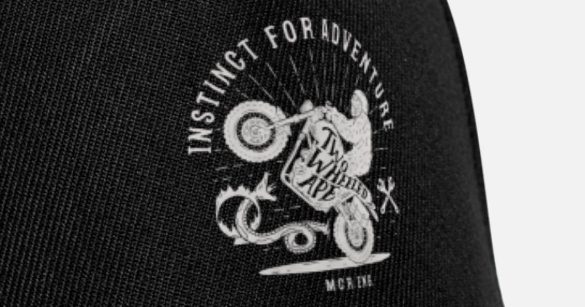 matériaux de qualité supérieure super mignon prix attractif T-shirt motard à roulettes en ape à deux roues, blanc Casquette snapback    Spreadshirt