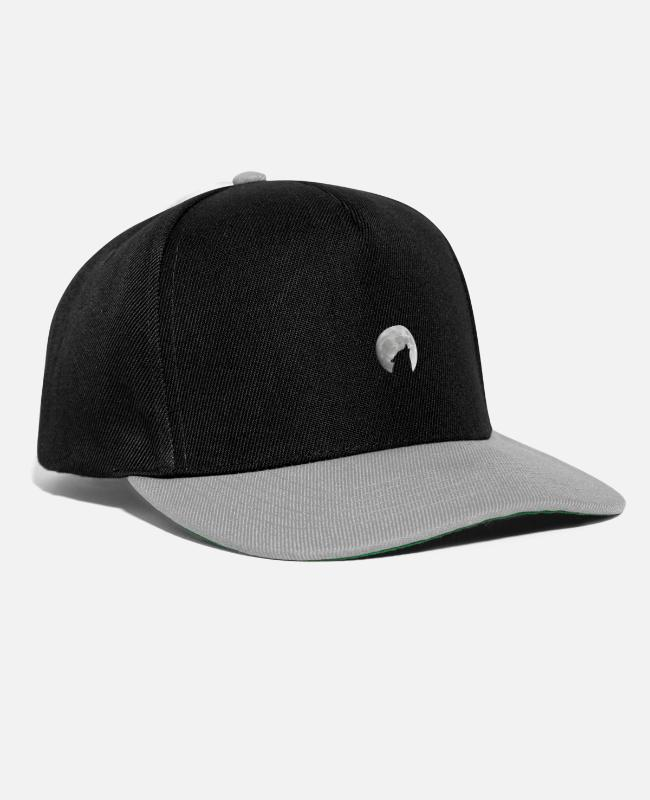 Night Caps & Hats - howling of the wolf - Snapback Cap black/grey