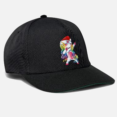 Dabbing cute unicorn girl unicorn christmas - Snapback Cap