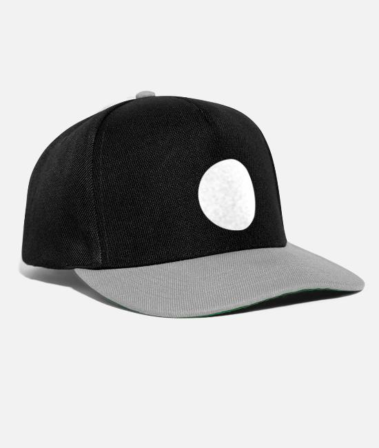 Circular Caps & Hats - White Round White Dot White Circle - Snapback Cap black/grey