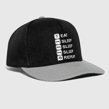 Eat, sleep, sleep, sleep, repeat - Casquette snapback