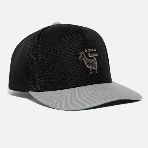 Lama Como se llama? Alpaka Snapback Cap   Spreadshirt