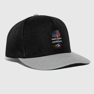 Filipino American grown with Filipino roots - Snapback Cap