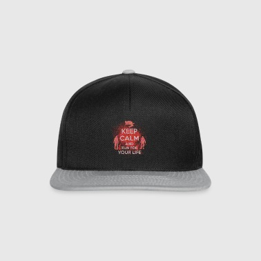 Keep Calm racing for your life gift Halloween - Snapback Cap