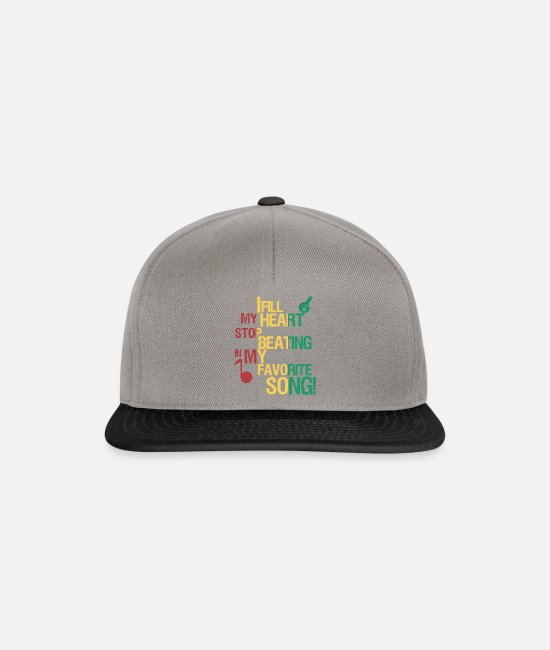 Song Caps & Hats - Favorite song / Favorite song gift idea - Snapback Cap graphite/black