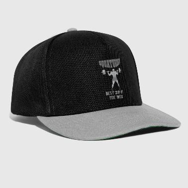 Squaturday Cool Squat All Day Design - Snapback Cap