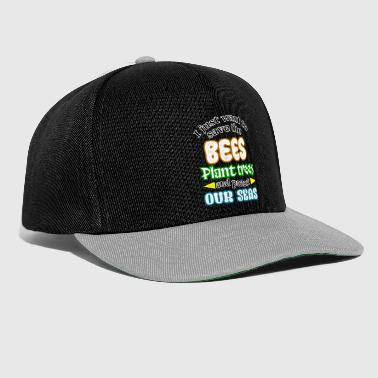 Bees environment environmental protection - Snapback Cap