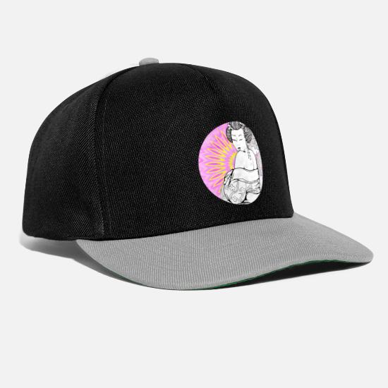 Cosplay Caps & Hats - geisha 1 - Snapback Cap black/grey