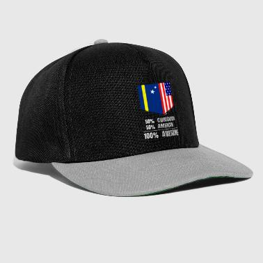 50% Curacaoan 50% American 100% Awesome - Snapback Cap