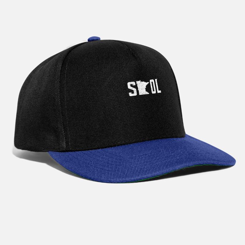 a638768e1ba SKOL Helmet Hat Distressed Vintage Nordic Yellow Snapback Cap ...