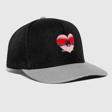Breast Cancer Ribbon Funny Breast Cancer Awareness Art For Women Dark - Snapback Cap