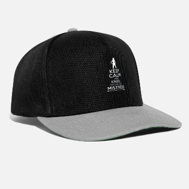 Domina Naughty Keep Calm Mistress and Domina Gift - Snapback Cap