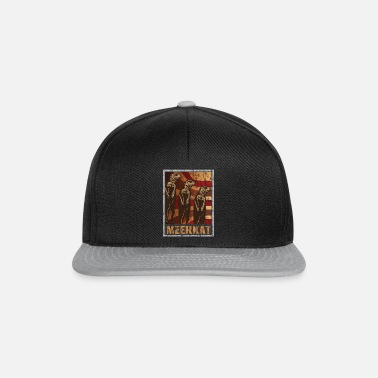 Regionen Retro meerkat plakat distressed look - Snapback-caps