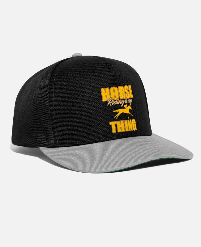 Horse Racing Caps & Hats - Riding hobby - Snapback Cap black/grey