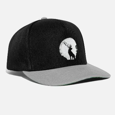 Stag Night Deer moon night forest peace calm - Snapback Cap