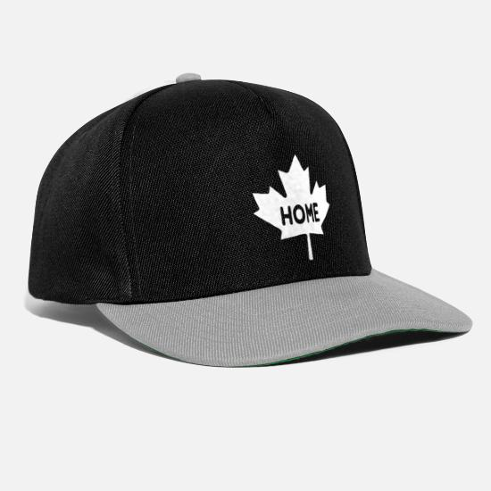 Canada Caps & Hats - Maple Maple Leaf Canada Home - Snapback Cap black/grey