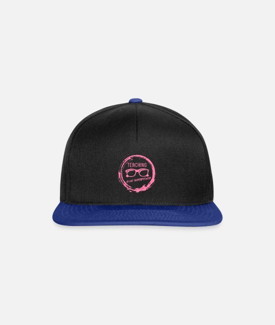 Teacher Caps & Hats - Teaching Teacher Teacher Teacher School teacher - Snapback Cap black/bright royal