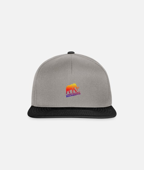 Fur Caps & Hats - Mammoth Ice Age Primal Gift - Snapback Cap graphite/black
