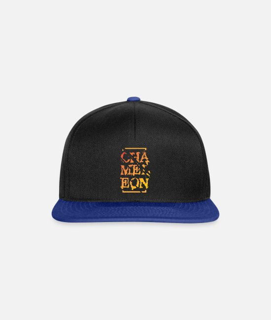 Reptile Caps & Hats - chameleon - Snapback Cap black/bright royal