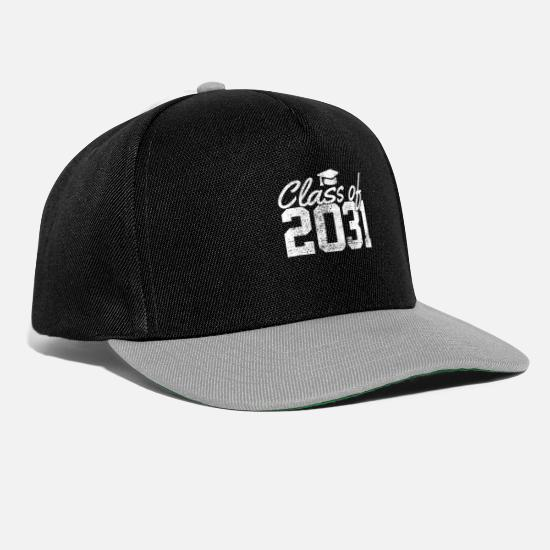 Teacher Caps & Hats - Class of 2031 graduates - Snapback Cap black/grey