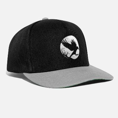 Design Dark Raven Silhouette Gift design for Crow Raven - Snapback Cap