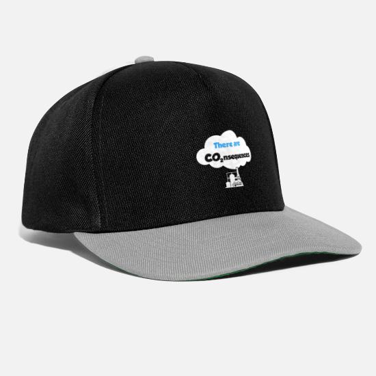 Save The Planet Petten & mutsen - Er zijn CO2-reeksen - Snapback cap zwart/grijs