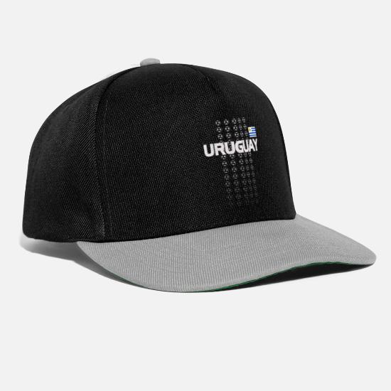 Birthday Caps & Hats - Uruguay National Soccer Team Fan Gear - Snapback Cap black/grey