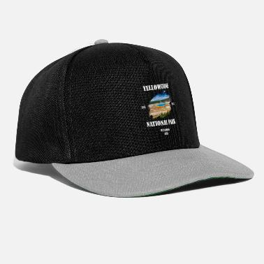Geografie Yellowstone Nationalpark Wyoming USA Geysir Bison - Snapback Cap