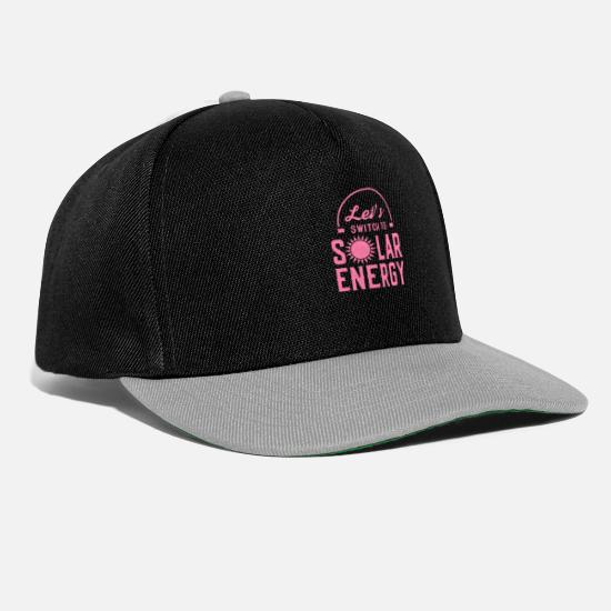 Enviromental Caps & Hats - solar power - Snapback Cap black/grey