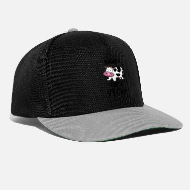 Save The Vinyl save cow 2 black - Snapback Cap