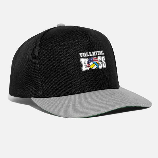 Gift Idea Caps & Hats - Mens Volleyball Boss Jersey | Gift for Indoor & - Snapback Cap black/grey