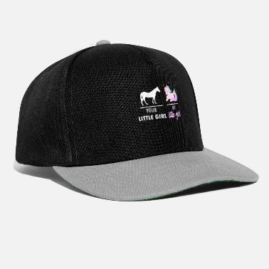 Your little girl My little girl unicorn F - Snapback Cap