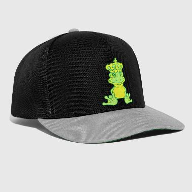 crown frog koenig gold ball fairy tale story - Snapback Cap