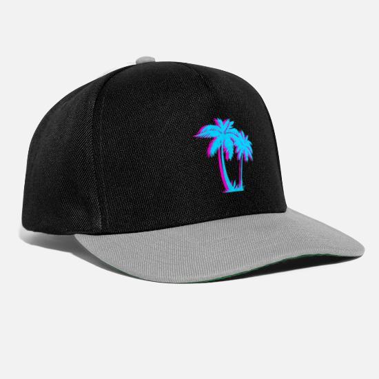309647b44de27a Tropical Caps & Hats - Beach Vaporwave Palm Tree Gift Aesthetic Tropical -  Snapback Cap black