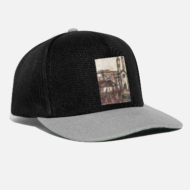City church people country painting artist - Snapback Cap