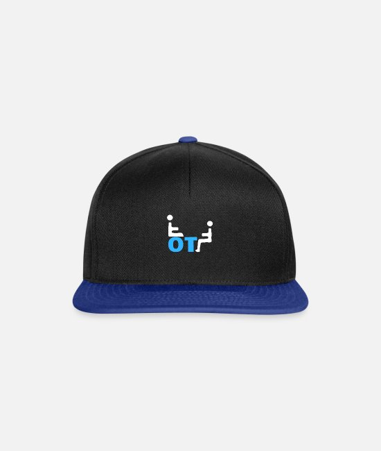 Social Caps & Hats - occupational therapist - Snapback Cap black/bright royal