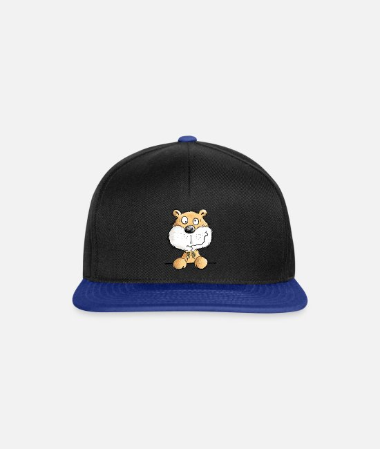 Mummy Caps & Hats - Funny hamster I animal motif - Snapback Cap black/bright royal