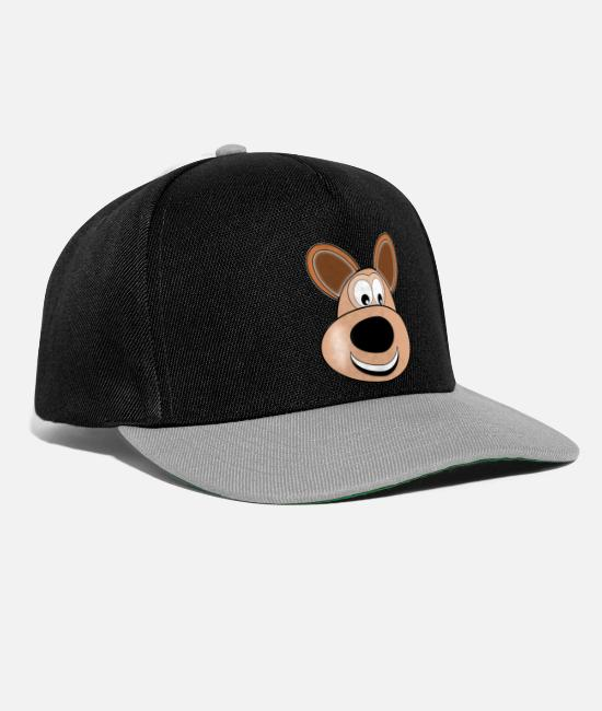 Heart Caps & Hats - Dog kangaroo - Snapback Cap black/grey