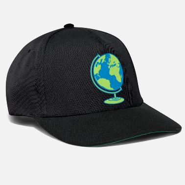 World globe planet earth world globe map world climate wall - Snapback Cap