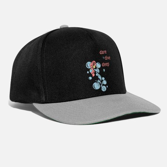 Mermaid Caps & Hats - dare to dive - Snapback Cap black/grey