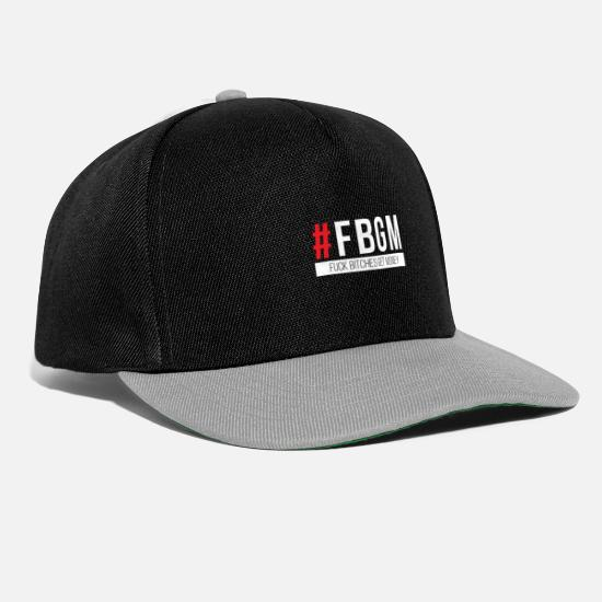 Fuck Caps & Hats - Fuck Bitches Get Money - Snapback Cap black/grey