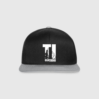 TORTURED IRON LOGO IN WHITE - Snapback Cap