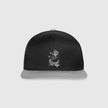 Elephant, paper ship and tree-surreal design - Snapback Cap
