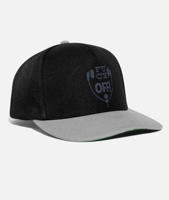 Headphones Caps & Hats - Fuck off! - Leibl Designs - Snapback Cap black/grey