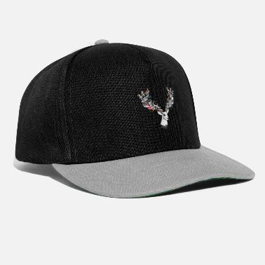 Eyes Deer with magnificent antlers and lavish ornamentation - Snapback Cap
