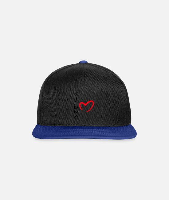 Austria Caps & Hats - VIENNA - Snapback Cap black/bright royal