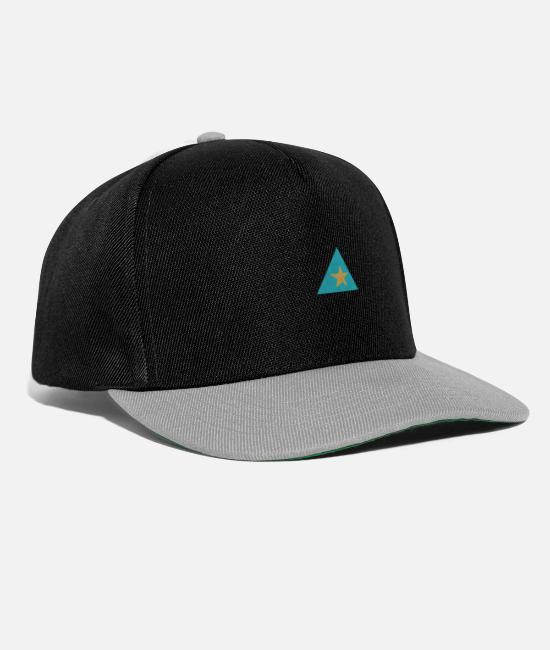 Star Caps & Hats - Triangle star - Snapback Cap black/grey